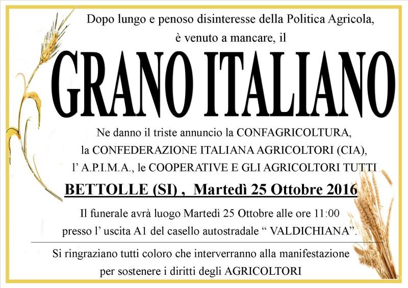 Funerale per il grano, il caro estinto dell'agricoltura italiana