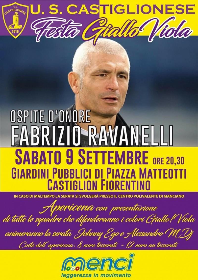 Festa Giallo-Viola, ospite d'onore Fabrizio Ravanelli