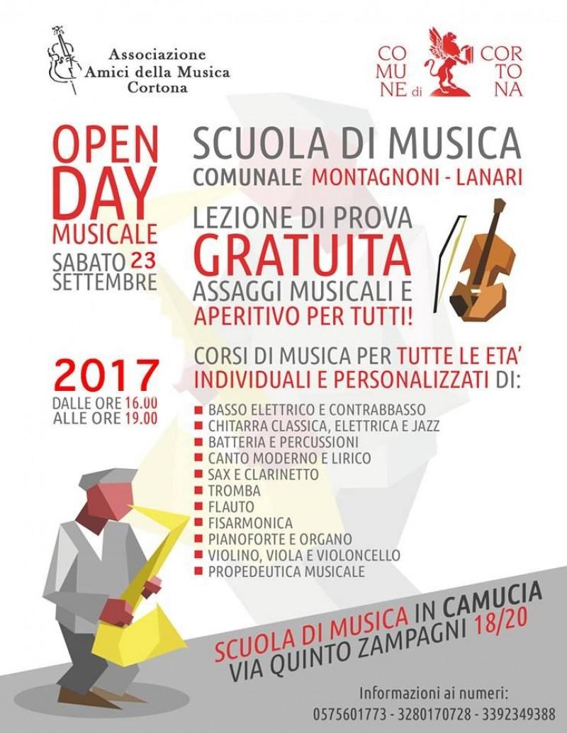 Scuola di Musica di Cortona Open Day Musicale sabato 23 settembre