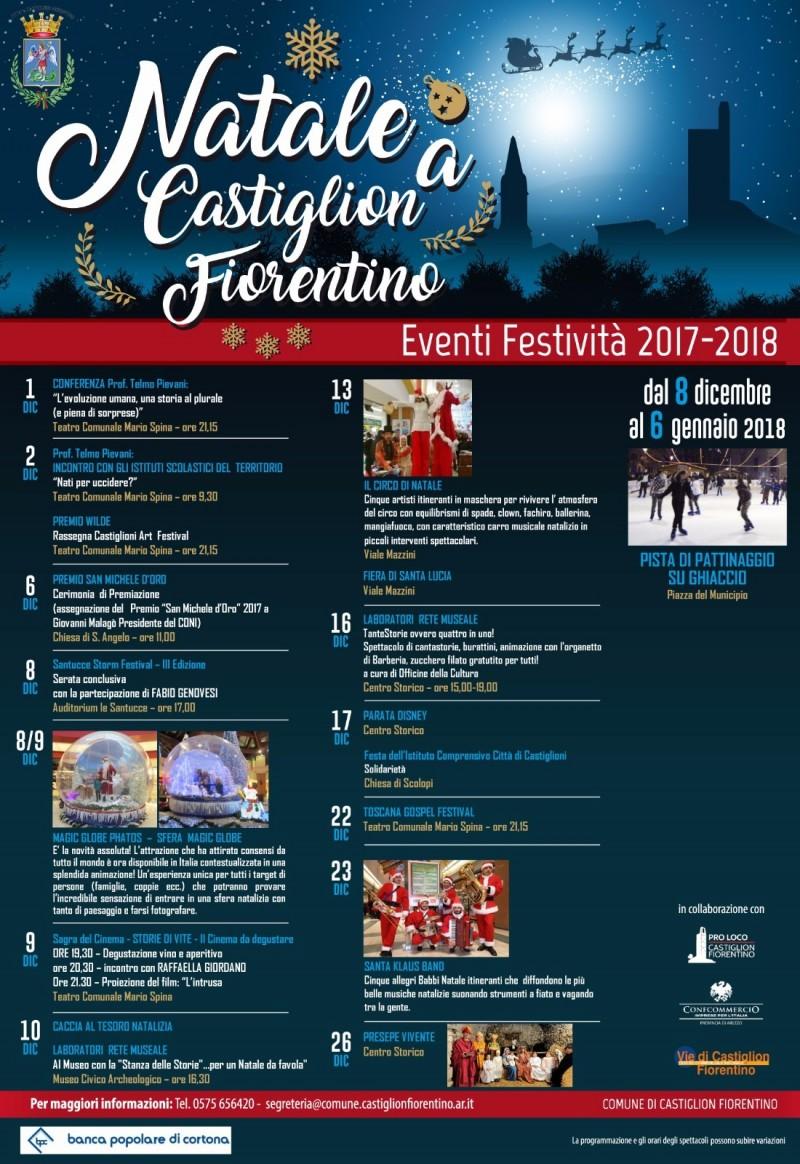 """""""Natale a Castiglion Fiorentino"""": magico con la sfera """"Magic Globe"""" ed indimenticabile con la pista di pattinaggio su ghiaccio e la Parata Disney"""