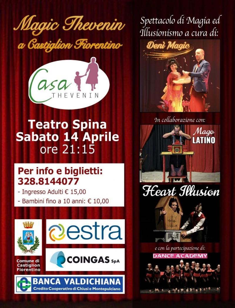 """""""Magic Thevenin"""", spettacolo di magia e illusionismo a favore di Casa Thevenin a Castiglion Fiorentino"""