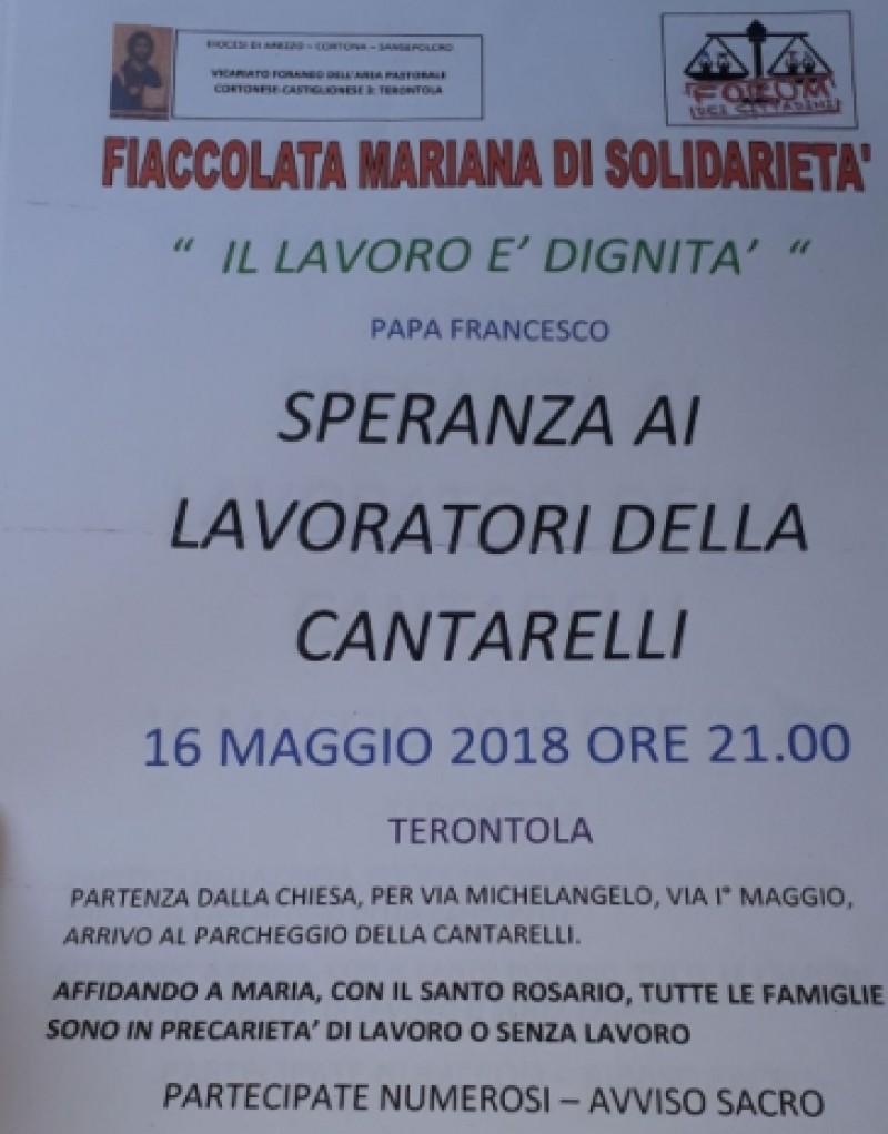 Terontola in preghiera per la Cantarelli.