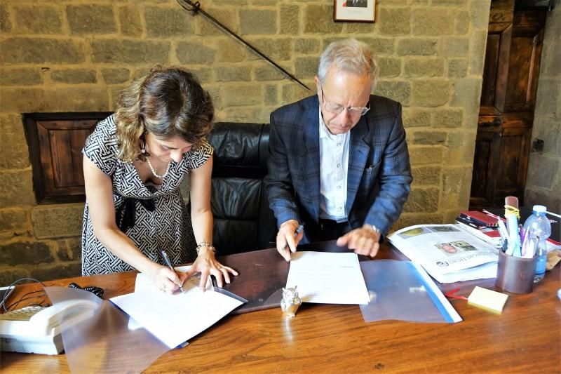 Firmata la convenzione fra Comune di Cortona e Accademia Etrusca per la gestione ed il funzionamento del Museo MAEC, del Parco Archeologico e della Biblioteca storica