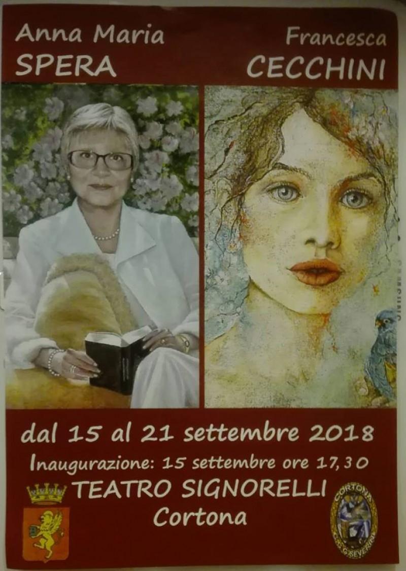 Anna Maria Spera e Francesca Cecchini espongono alle Logge del Signorelli