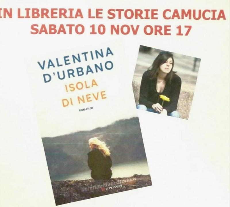 Valentina D'Urbano sabato presenta il suo libro a Camucia