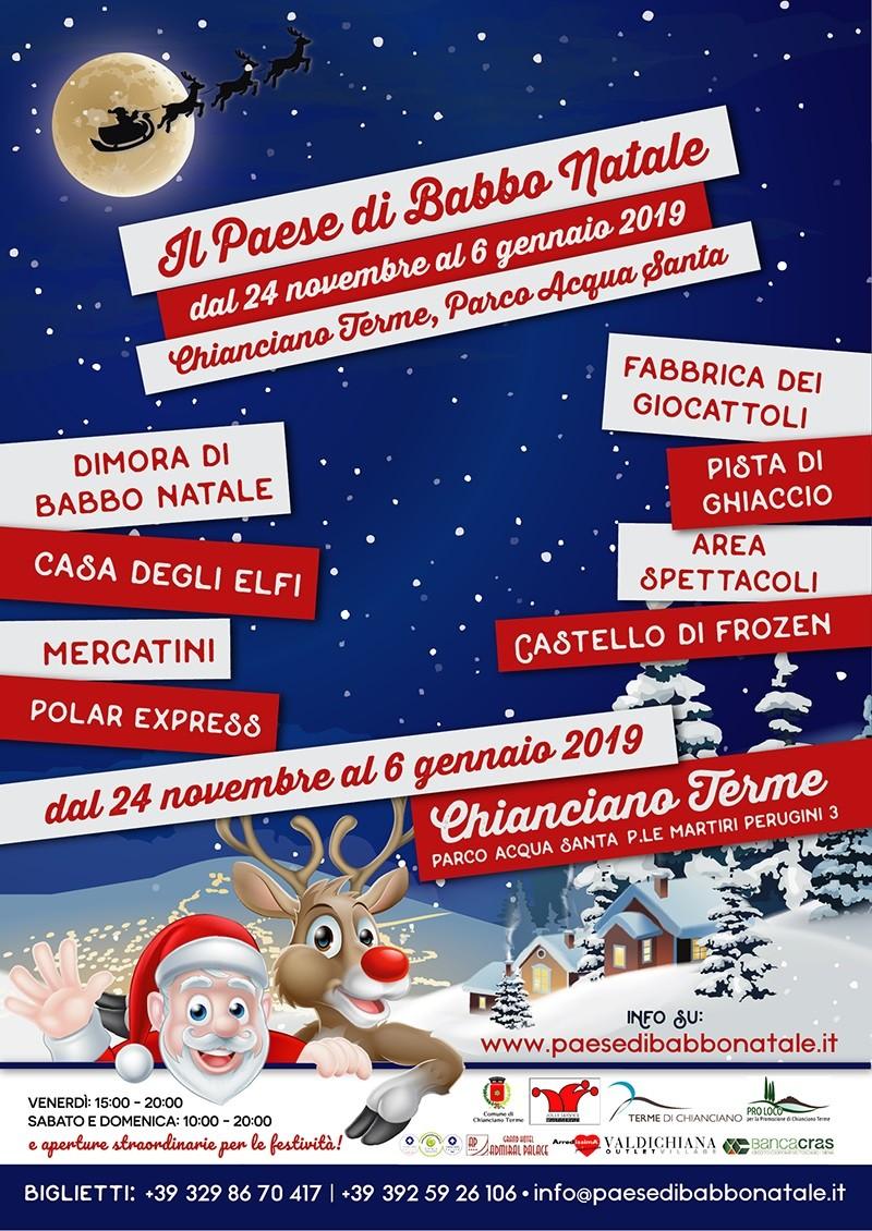 Paese Natale Di Babbo Natale.Inaugurazione Del Paese Di Babbo Natale A Chianciano Terme