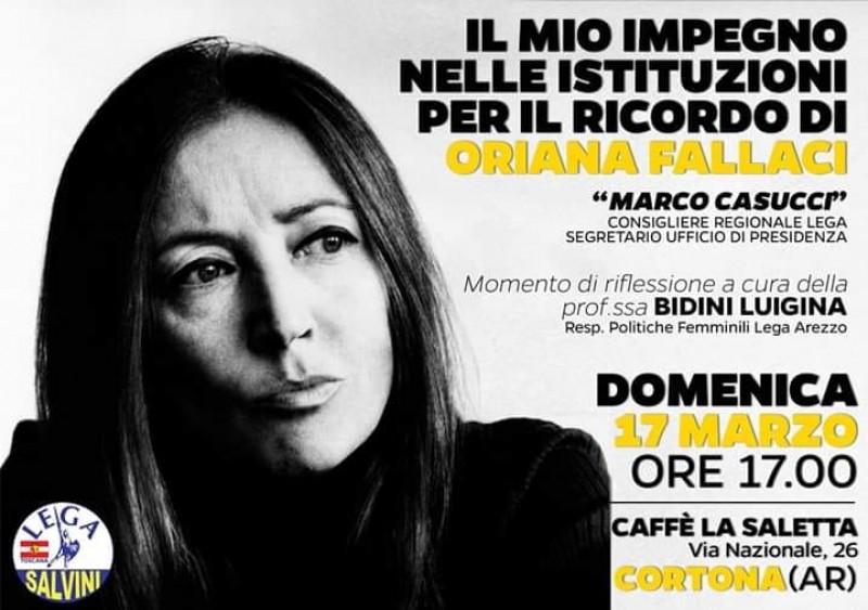 """""""Il mio impegno nelle istituzioni per il ricordo di Oriana Fallaci"""""""