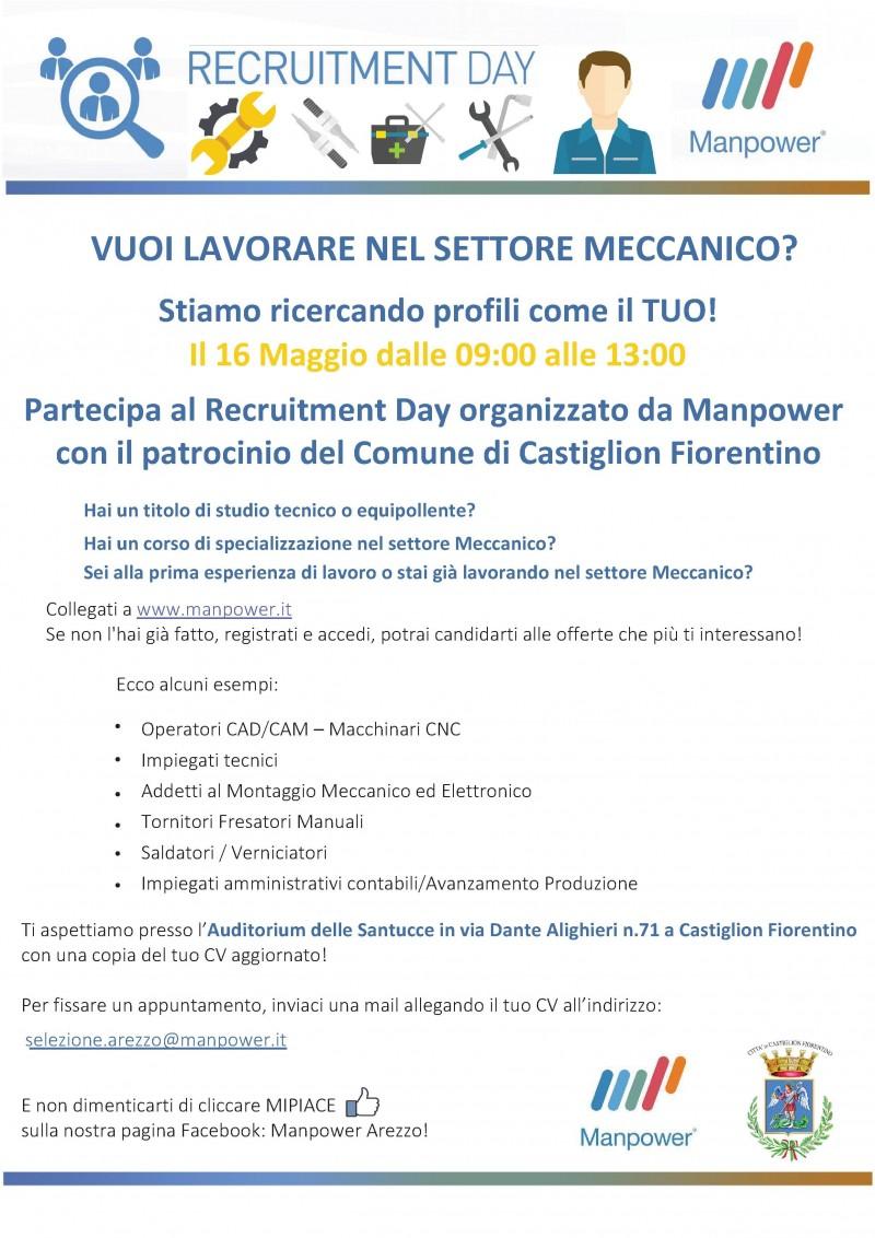 """""""Recruitment Day"""" a Castiglion Fiorentino"""