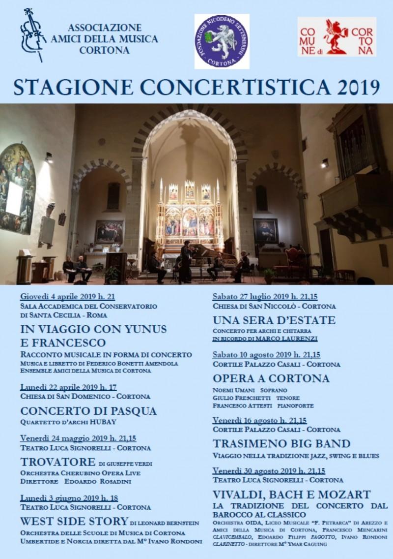 Amici della Musica di Cortona Stagione Concertistica 2019