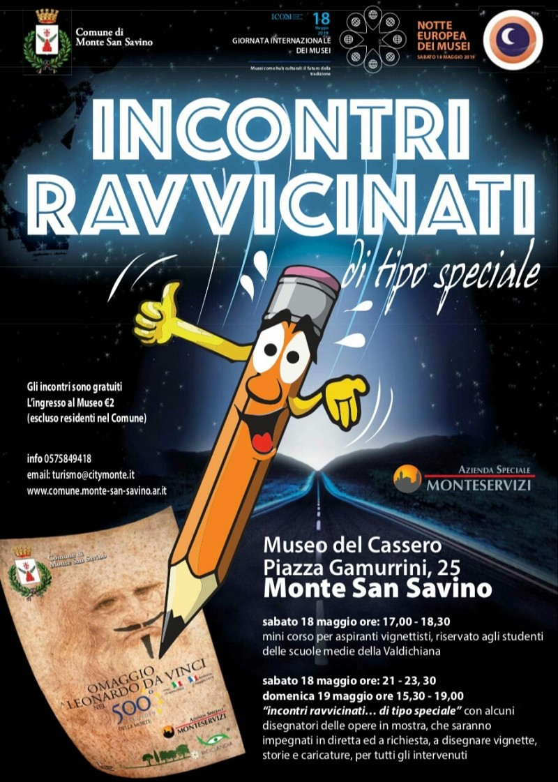 Leonardo da Vinci e il fumetto si intrecciano a Monte San Savino