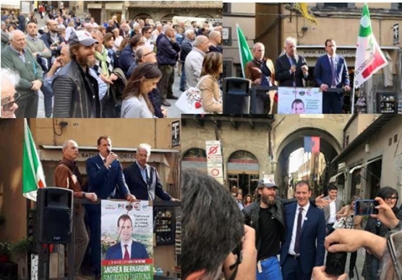 Walter Veltroni conclude la campagna elettorale di Andrea Bernardini