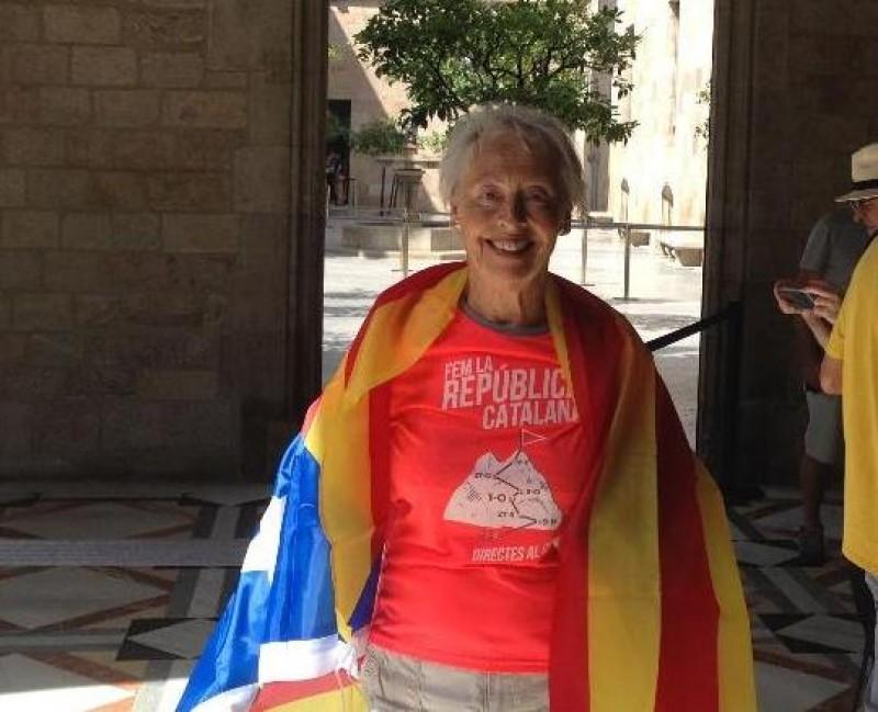 La portavoce cortonese in difesa di Catalogna Libera