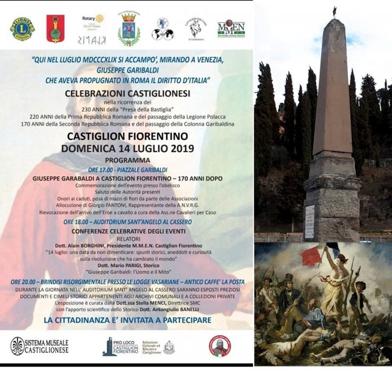 Castiglion Fiorentino: 1849-2019 Garibaldi arriva in paese